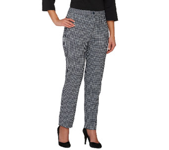 """As Is"" Susan Graver Stretch Woven Zip Front Ankle Pants - A273003"