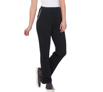 LOGO Lounge by Lori Goldstein Petite Pants with Mesh Trim on Pockets - A273903