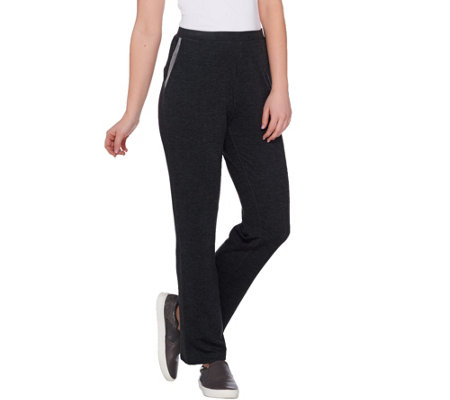 LOGO Lounge by Lori Goldstein Petite Pants with Mesh Trim on Pockets