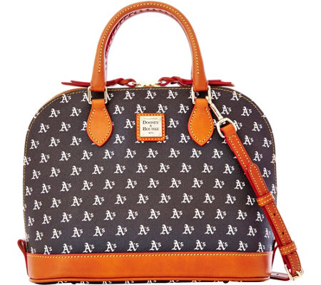 Dooney & Bourke MLB Athletics Zip Zip Satchel