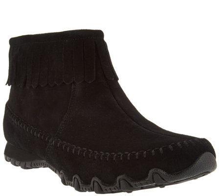 Skechers Relaxed Fit Suede Fringe Boots - Indian Summer