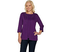 Quacker Factory Multi-Colored Rhinestone 3/4 Sleeve Duet - A281803