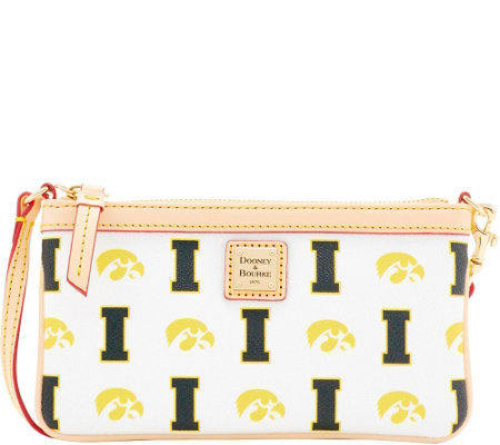 Dooney & Bourke NCAA University of Iowa Slim Wristlet