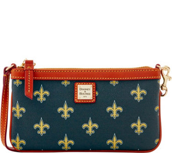 Dooney & Bourke NFL Saints Large Slim Wristlet - A285803
