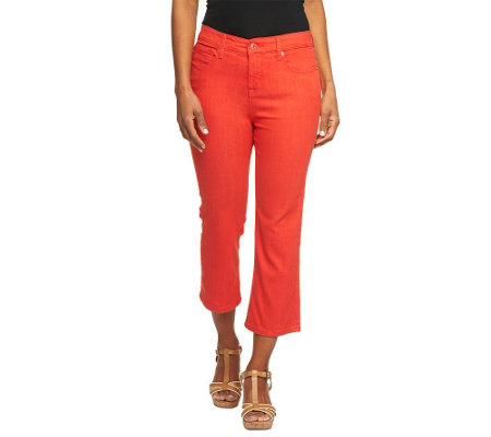 """As Is"" Isaac Mizrahi Live! Icon Marilyn Crop Denim Jeans"