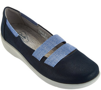 """As Is"" Clarks Cloud Steppers Slip-on Sneakers - Sillian Rest - A286603"