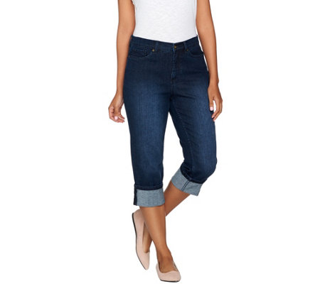 """As Is"" Denim & Co. ""How Modern"" Denim Convertible Capri"