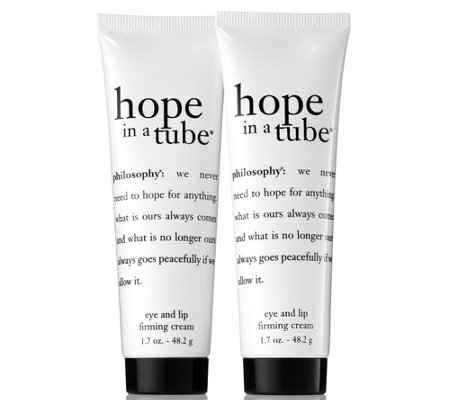 philosophy super-size hope in a tube eye & lip cream duo