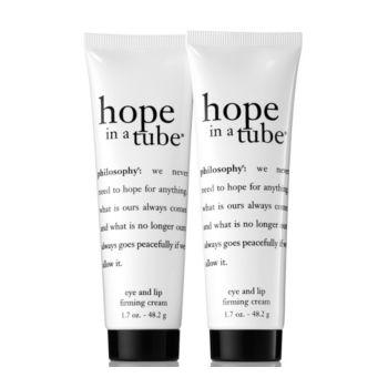 philosophy super-size hope in a tube eye & lip cream duo