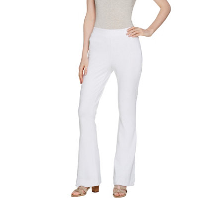Lisa Rinna Collection Petite Ponte Knit Flare Pants