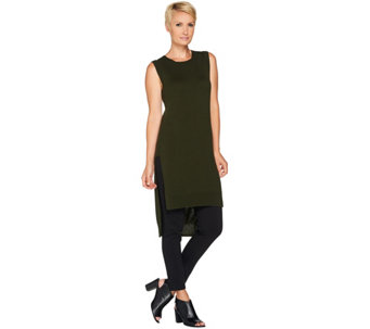 """As Is"" LOGO by Lori Goldstein Sleeveless Sweater Knit Tunic - A290303"