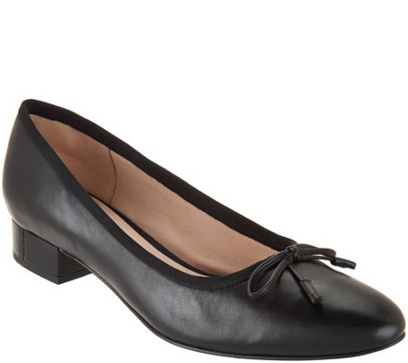 Clarks Narrative Leather Low Heel Pumps - Eliberry Isla