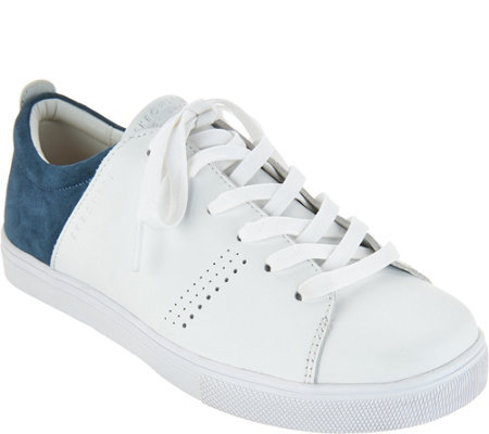 Skechers Perforated Leather Lace-up Sneakers - Clean Street