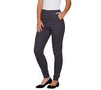 Denim & Co. Regular Color Pull-on Stretch Denim Leggings - A296803