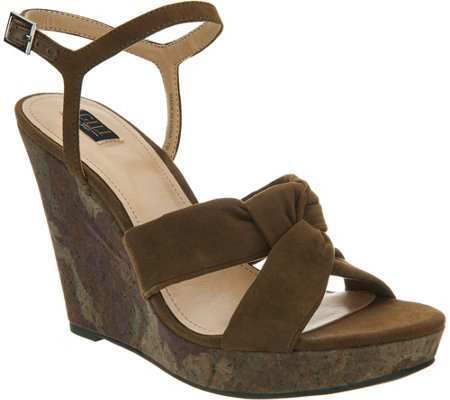 G.I.L.I. Knotted Front Wedge with Ankle Strap - Kahlie