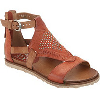 Miz Mooz Leather Cut Out Sandals w/ Stud Details - Tessa - A304603