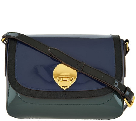"""As Is"" orYANY Patent Leather Crossbody - Layla"