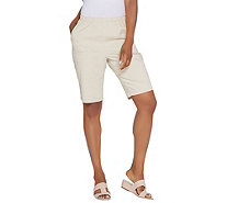 "Denim & Co. 11"" Pull-on Side Pocket Shorts - Color - A308603"