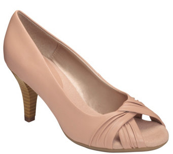 A2 by Aerosoles Heel Rest Peep Toe Pumps - Deluxe - A339303