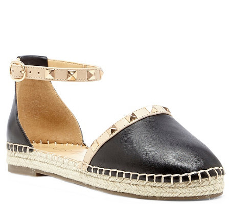 Sole Society Studded Leather Espadrilles - Berlin