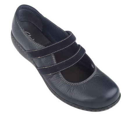 Clarks Bendables Mandy May Leather Double Strap MaryJanes