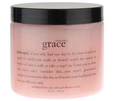 philosophy amazing grace hot salt tub & shower scrub, 23 oz.
