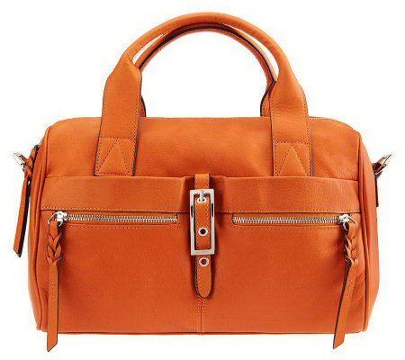 B. Makowsky Leather Zip-Top Convertible Satchel