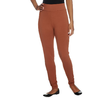 LOGO Layers by Lori Goldstein Petite Knit Slim Leg Ankle Pants