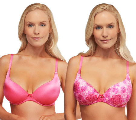 Barely Breezies S/2 Sweetheart Neckline Comfort-Back Bras