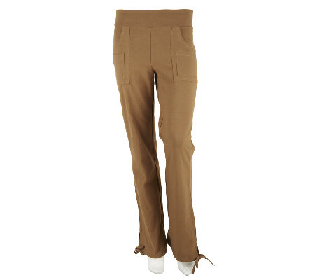 Women with Control Petite Double Pocket Knit Drawstring Pant