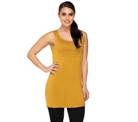 LOGO Layers by Lori Goldstein Petite Straight Hem Tank