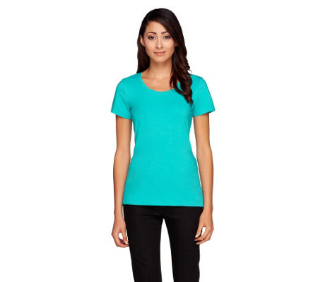Isaac Mizrahi Live! Scoop Neck Knit T-Shirt