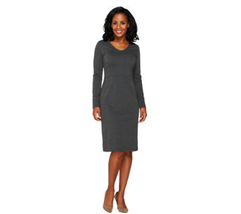 Liz Claiborne New York Petite Ponte Knit Dress - A258104