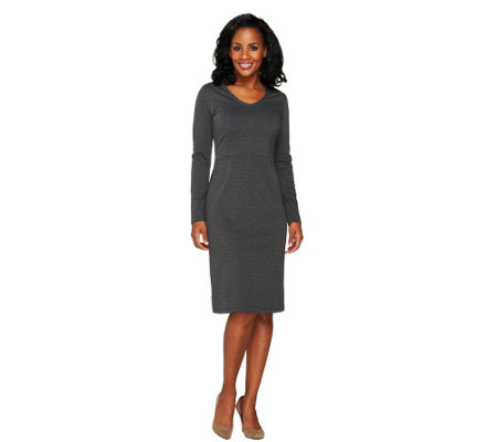 Liz Claiborne New York Petite Ponte Knit Dress