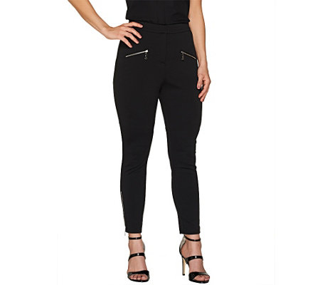 SA by Seth Aaron Petite Slim Leg Pants with Zipper Detail