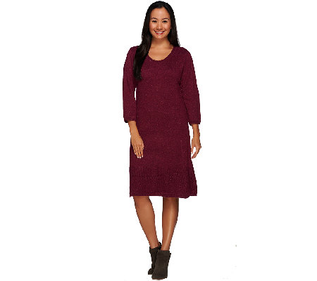 Isaac Mizrahi Live! Textured Sweater Dress