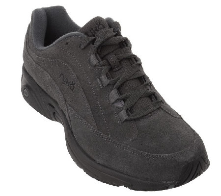 """As Is"" Ryka Suede Lace-up Walking Shoes - Catalyst"