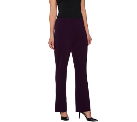 Susan Graver Passport Knit Pull-On Comfort Waist Bootcut Pants