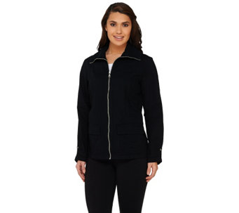 """As Is"" Denim & Co. Active Golf Ripstop Zip Front Jacket - A270804"