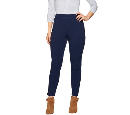 Isaac Mizrahi Live! Regular Ponte Ankle Pants w/ Seam Detail