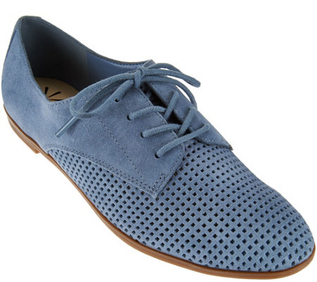 Isaac Mizrahi Live! Perforated Leather or Suede Oxfords