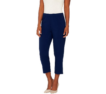 """As Is"" Susan Graver Chelsea Stretch Comfort Waist Crop Pants - A274804"