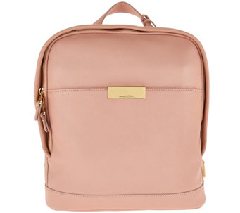 Isaac Mizrahi Live! Whitney Lamb Leather Backpack - A276204