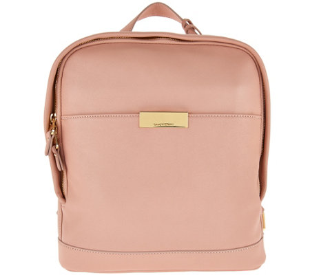 Isaac Mizrahi Live! Whitney Lamb Leather Backpack
