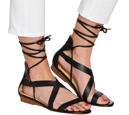 C. Wonder Lace-up Leather Gladiator Sandals - Lyla