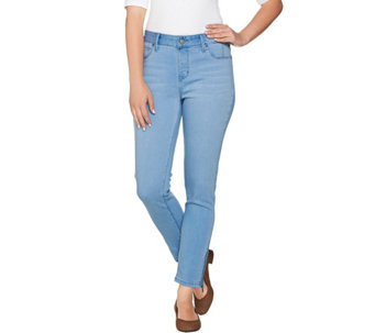 Hot in Hollywood Pull-On Ankle Jeans w/ Zipper Detail - A279104