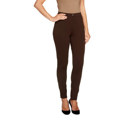 """As Is"" Joan Rivers Regular Stretch Twill Slim Pants"