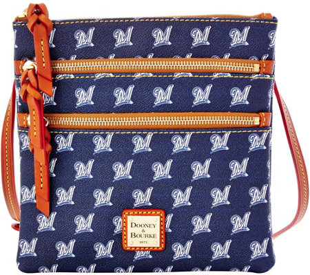 Dooney & Bourke MLB Brewers Triple Zip Crossbody