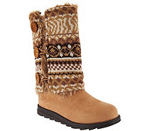 MUK LUKS Andrea 4-in-1 Boot with Reversible Boot Sweater - A281304