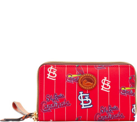 Dooney & Bourke MLB Nylon Cardinals Zip Around Phone Wristlet